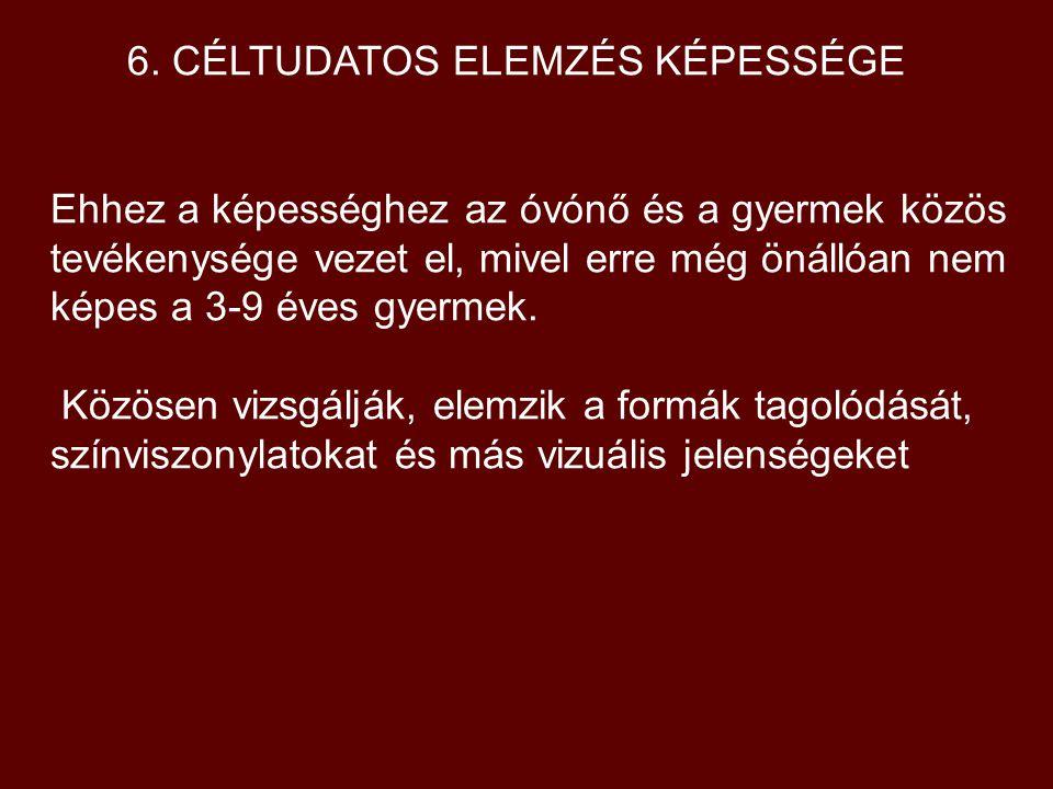 6. CÉLTUDATOS ELEMZÉS KÉPESSÉGE