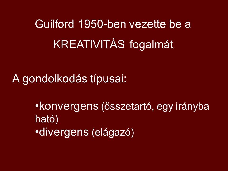 Guilford 1950-ben vezette be a
