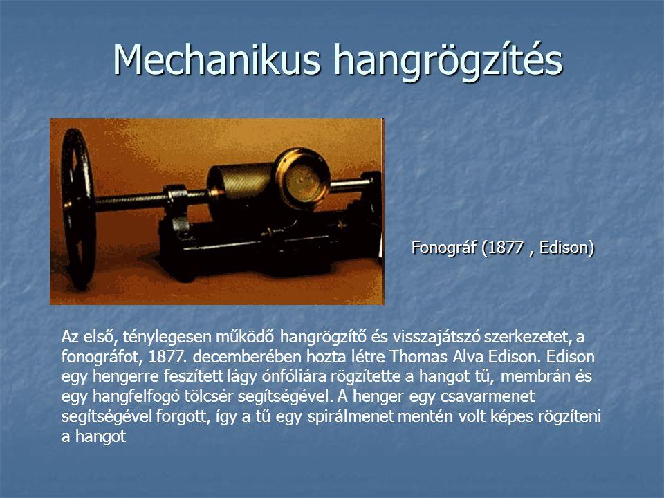 Mechanikus hangrögzítés