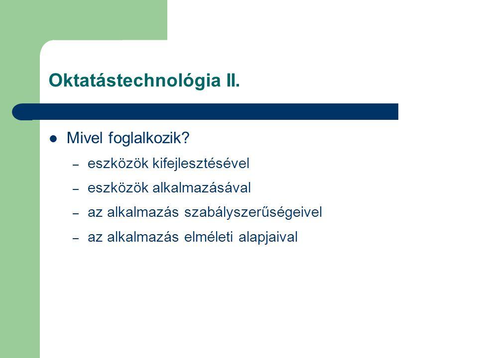 Oktatástechnológia II.