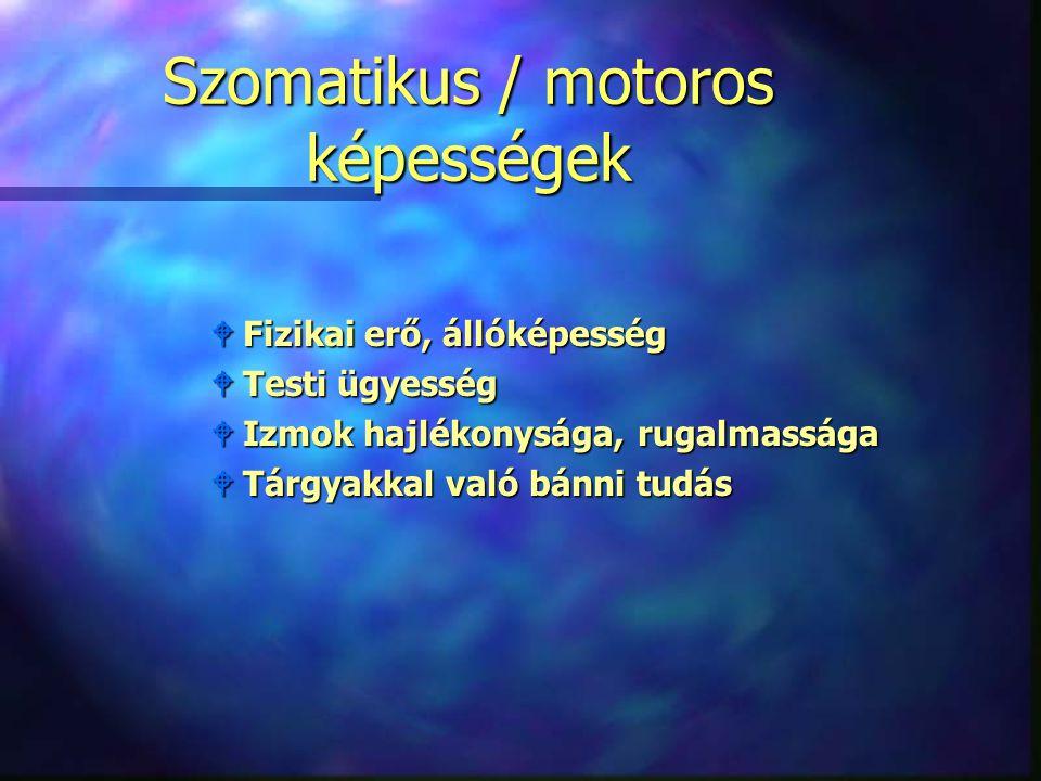 Szomatikus / motoros képességek