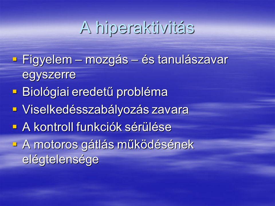 A hiperaktivitás Figyelem – mozgás – és tanulászavar egyszerre
