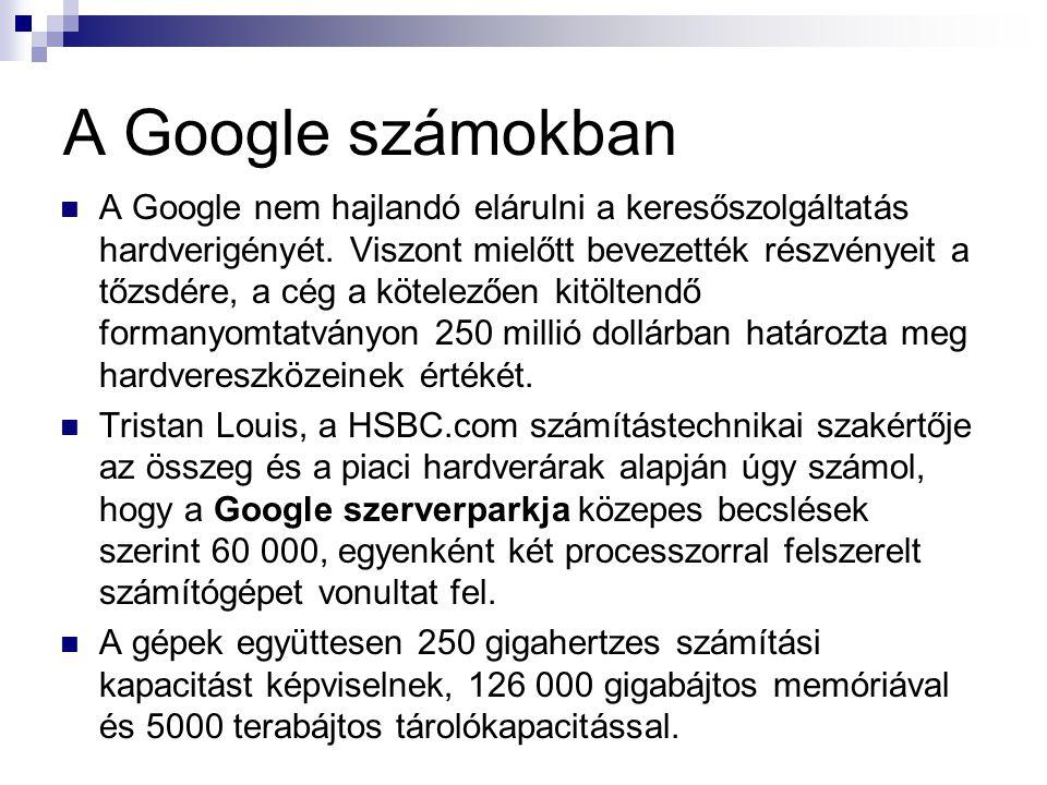 A Google számokban