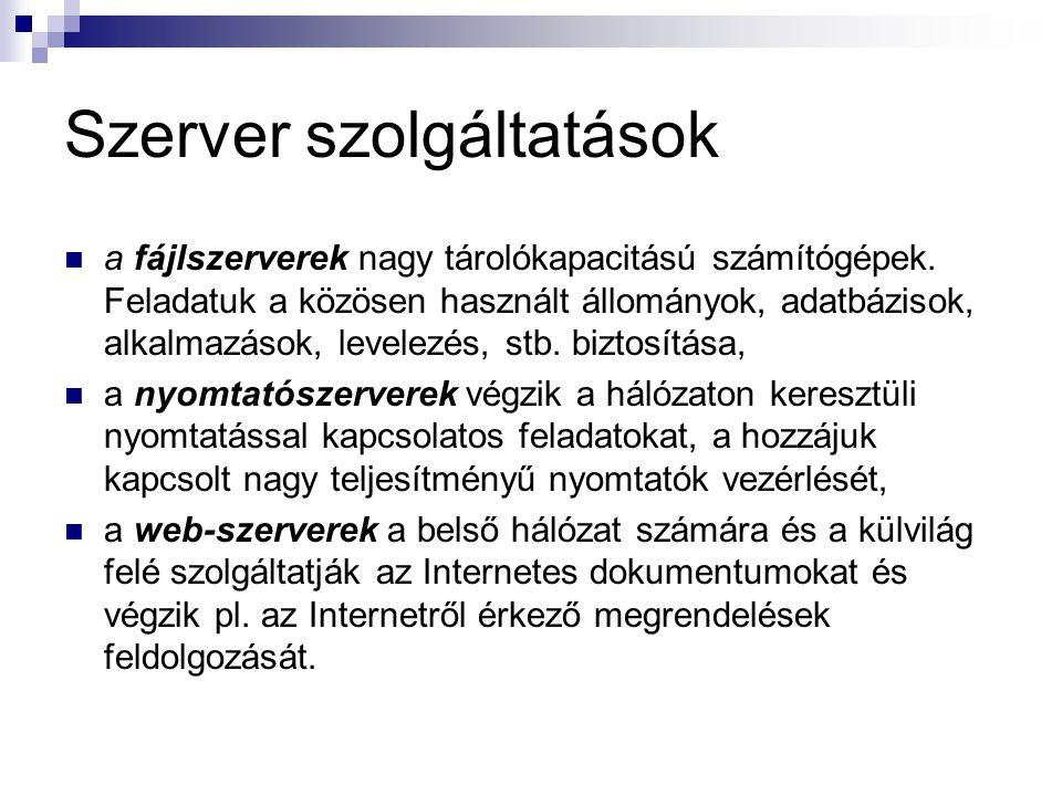Szerver szolgáltatások
