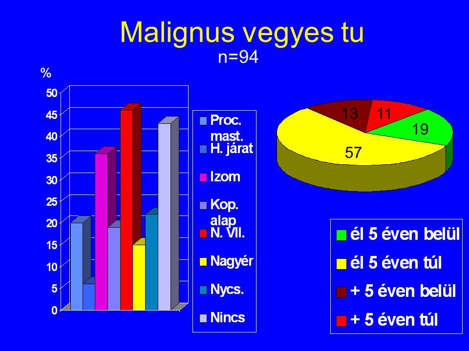 Malignus vegyes tu n=94 % 13 11 19 57