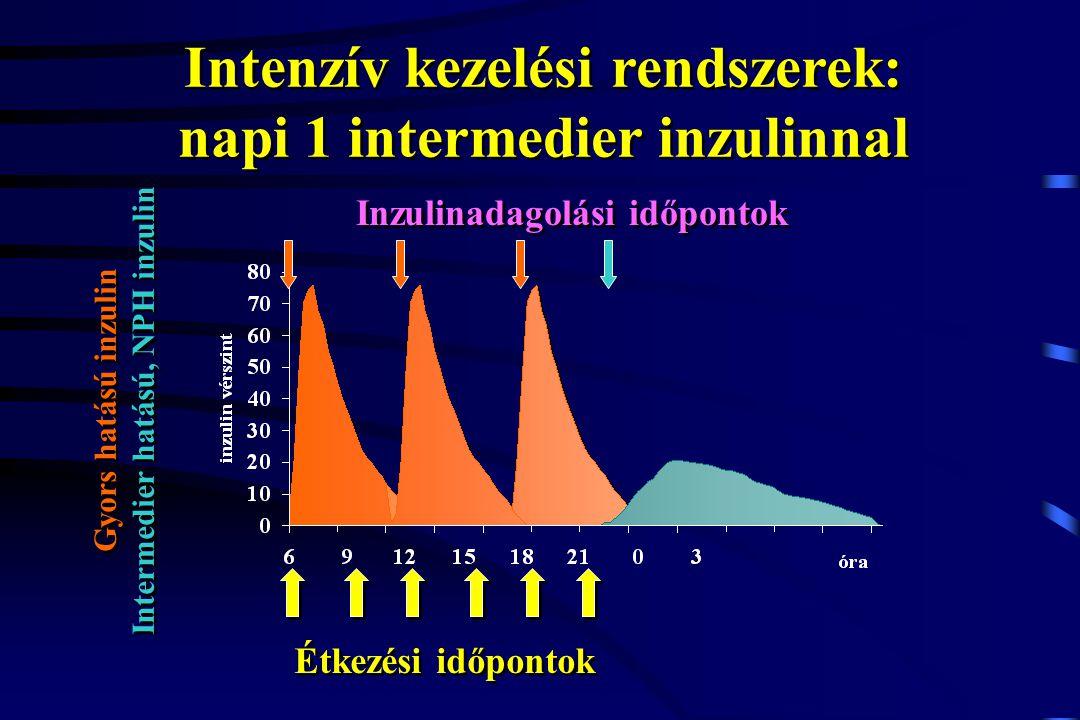 Intenzív kezelési rendszerek: napi 1 intermedier inzulinnal