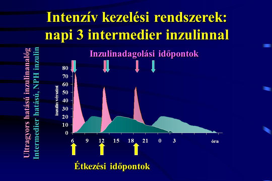 Intenzív kezelési rendszerek: napi 3 intermedier inzulinnal