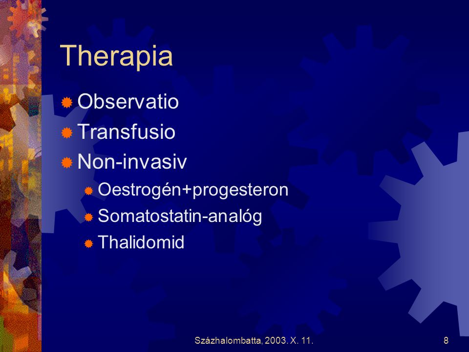 Therapia Observatio Transfusio Non-invasiv Oestrogén+progesteron