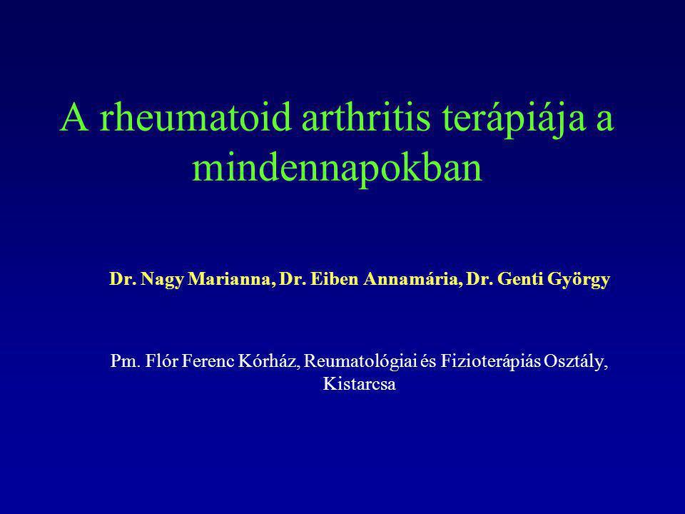 A rheumatoid arthritis terápiája a mindennapokban
