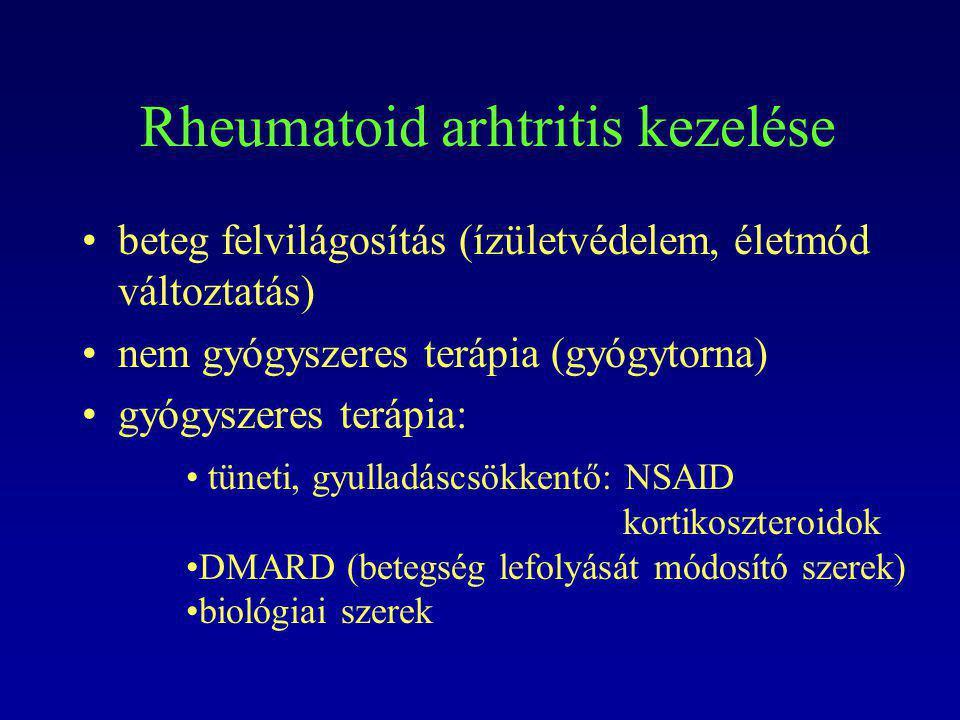 Rheumatoid arhtritis kezelése