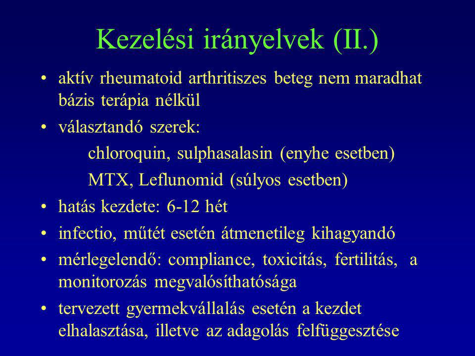Kezelési irányelvek (II.)