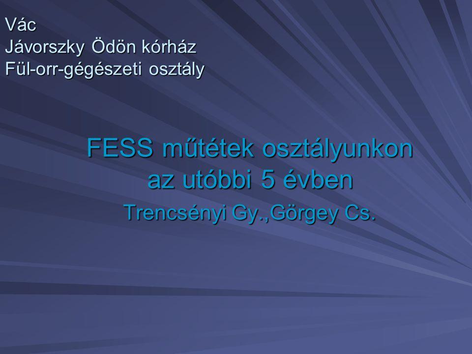 Vác Jávorszky Ödön kórház Fül-orr-gégészeti osztály