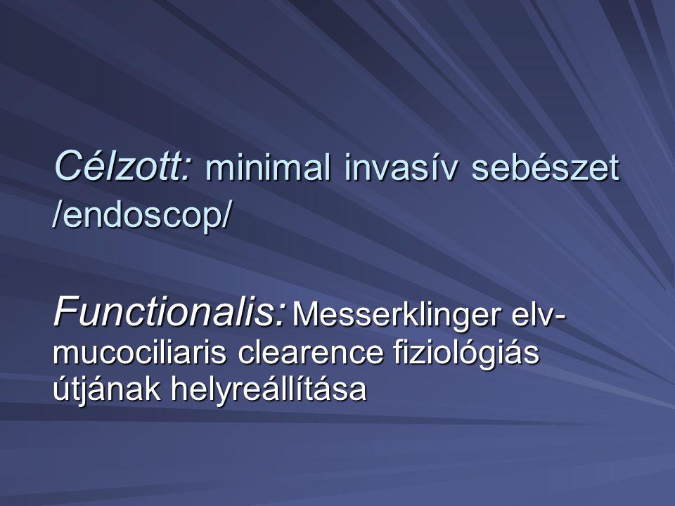 Célzott: minimal invasív sebészet /endoscop/