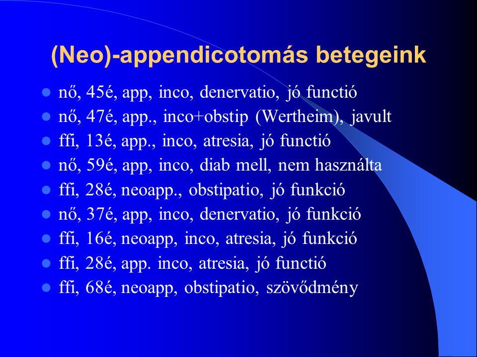 (Neo)-appendicotomás betegeink