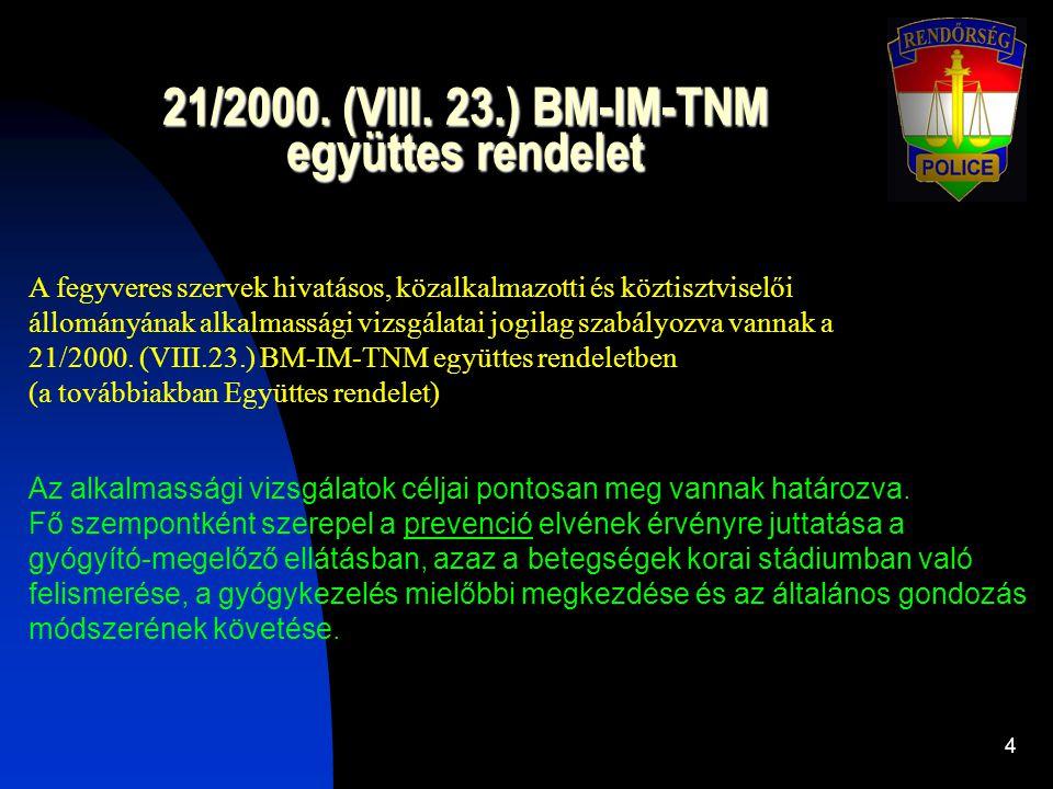 21/2000. (VIII. 23.) BM-IM-TNM együttes rendelet