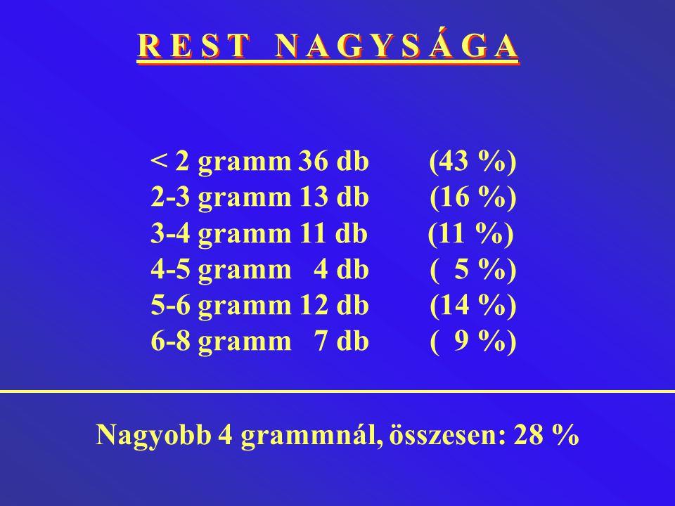 R E S T N A G Y S Á G A < 2 gramm 36 db (43 %)