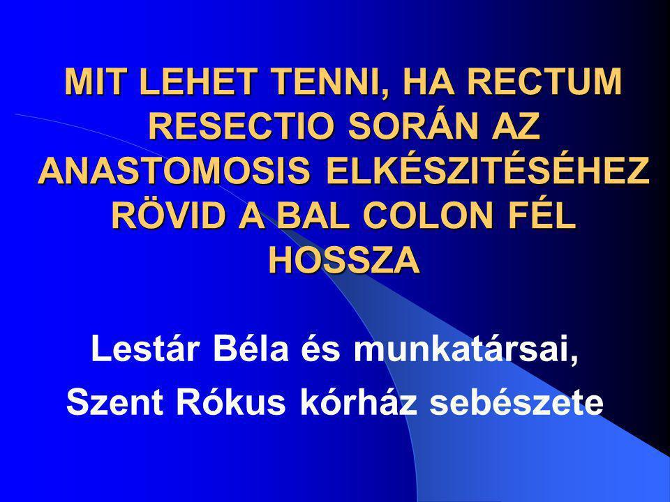 Lestár Béla és munkatársai, Szent Rókus kórház sebészete