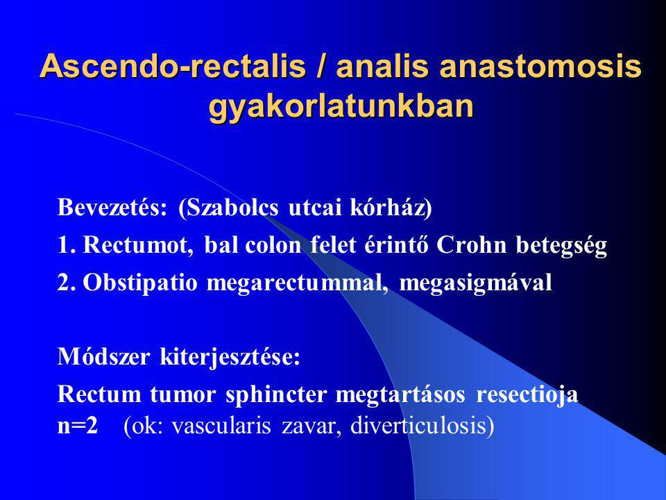 Ascendo-rectalis / analis anastomosis gyakorlatunkban