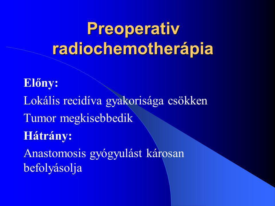 Preoperativ radiochemotherápia