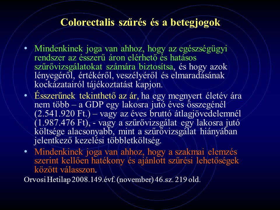 Colorectalis szűrés és a betegjogok