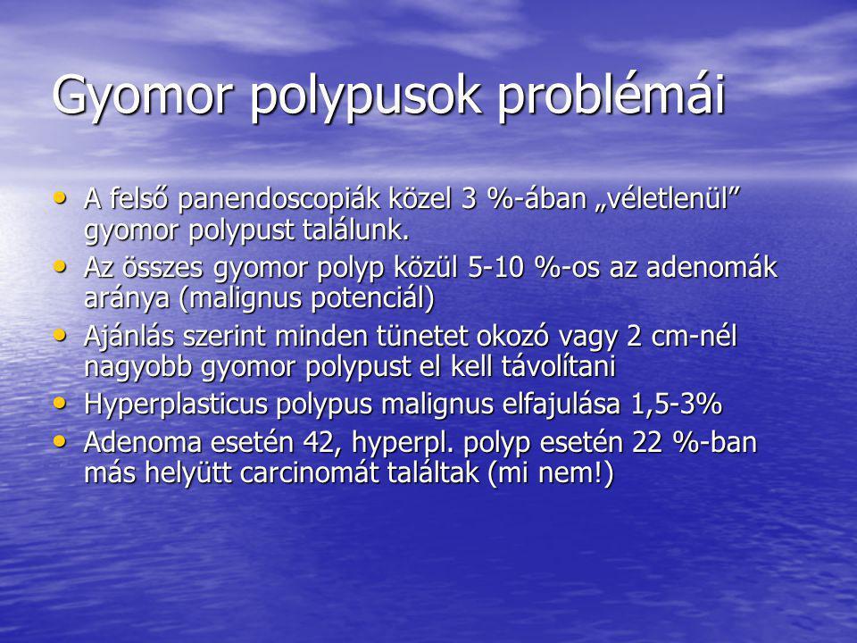 Gyomor polypusok problémái