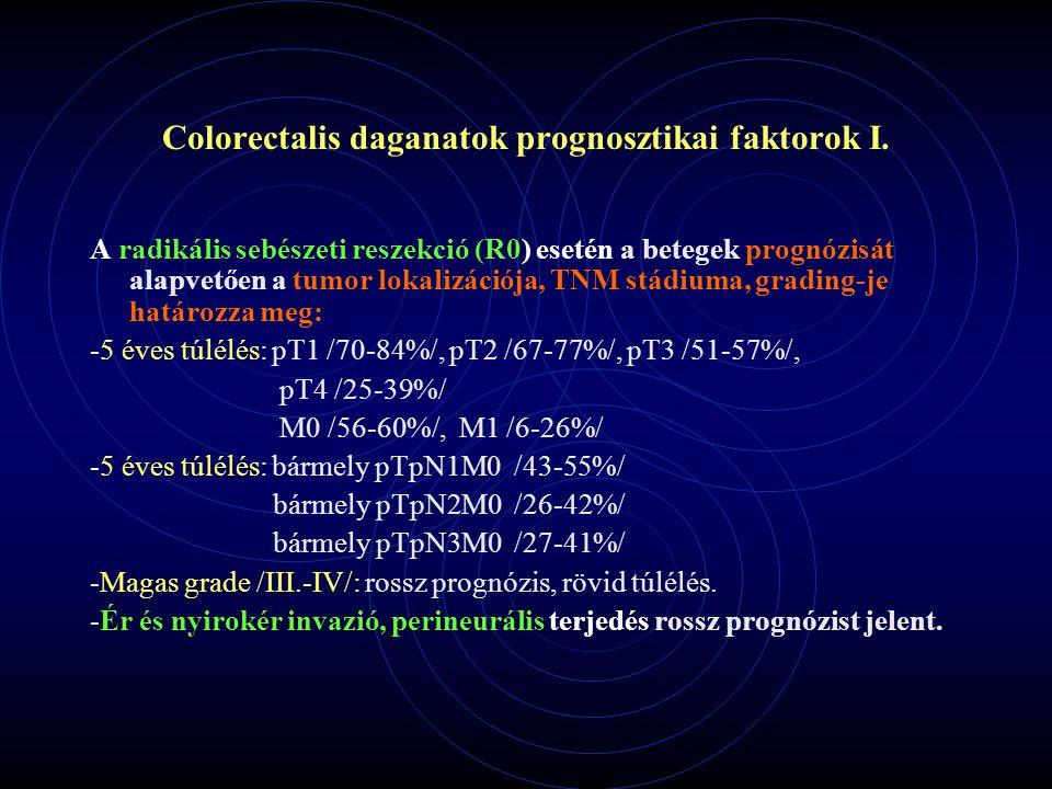 Colorectalis daganatok prognosztikai faktorok I.
