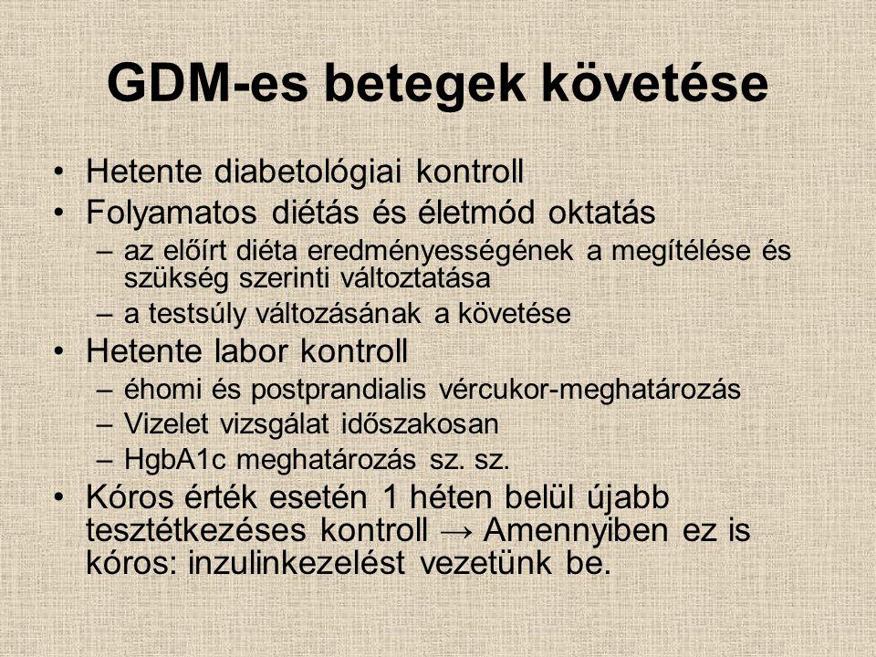 GDM-es betegek követése