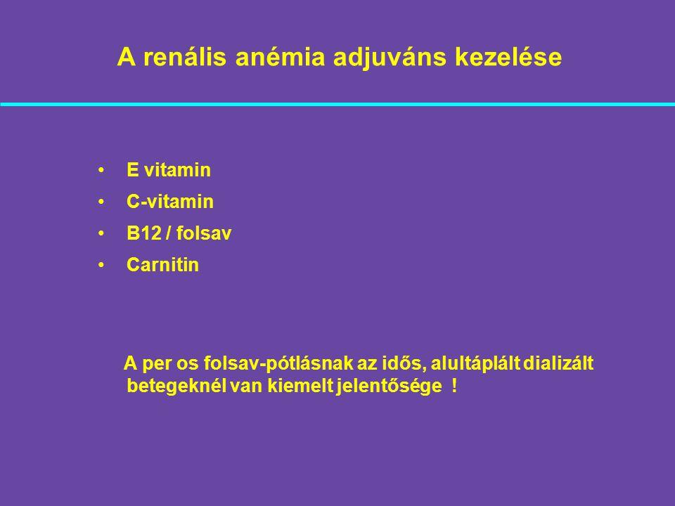A renális anémia adjuváns kezelése