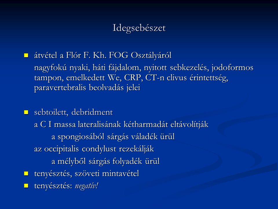 Idegsebészet átvétel a Flór F. Kh. FOG Osztályáról