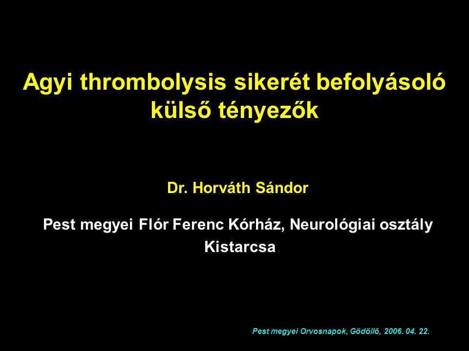 Pest megyei Flór Ferenc Kórház, Neurológiai osztály