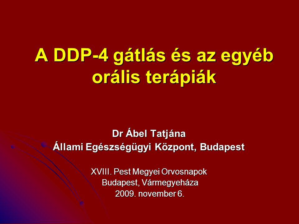 A DDP-4 gátlás és az egyéb orális terápiák