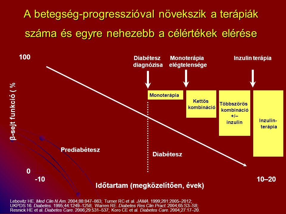 A betegség-progresszióval növekszik a terápiák száma és egyre nehezebb a célértékek elérése
