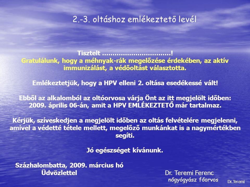 2.-3. oltáshoz emlékeztető levél