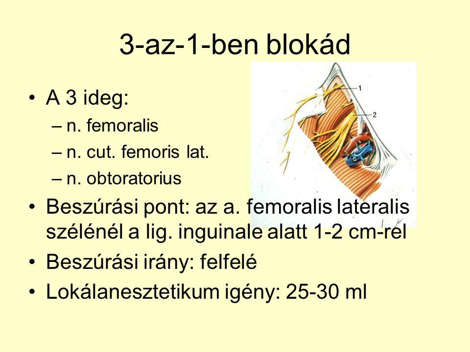 3-az-1-ben blokád A 3 ideg: