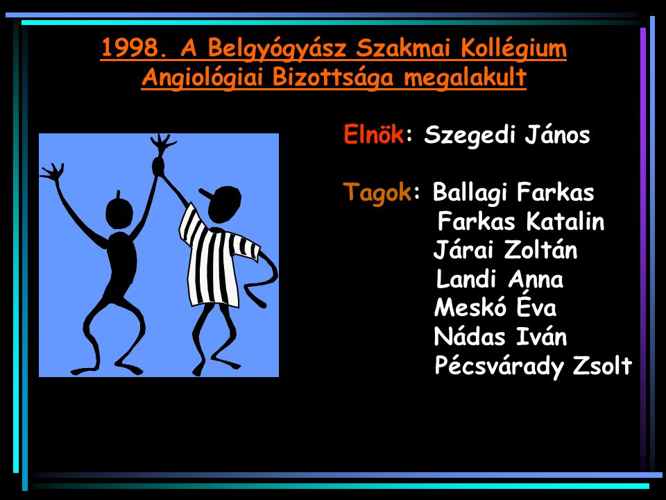 1998. A Belgyógyász Szakmai Kollégium