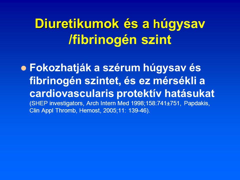 Diuretikumok és a húgysav /fibrinogén szint