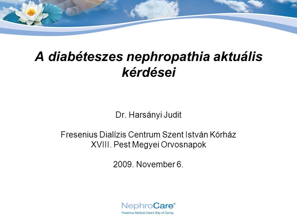 A diabéteszes nephropathia aktuális kérdései
