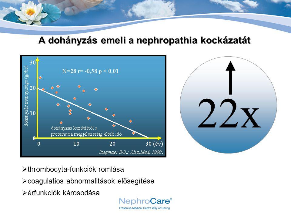 A dohányzás emeli a nephropathia kockázatát