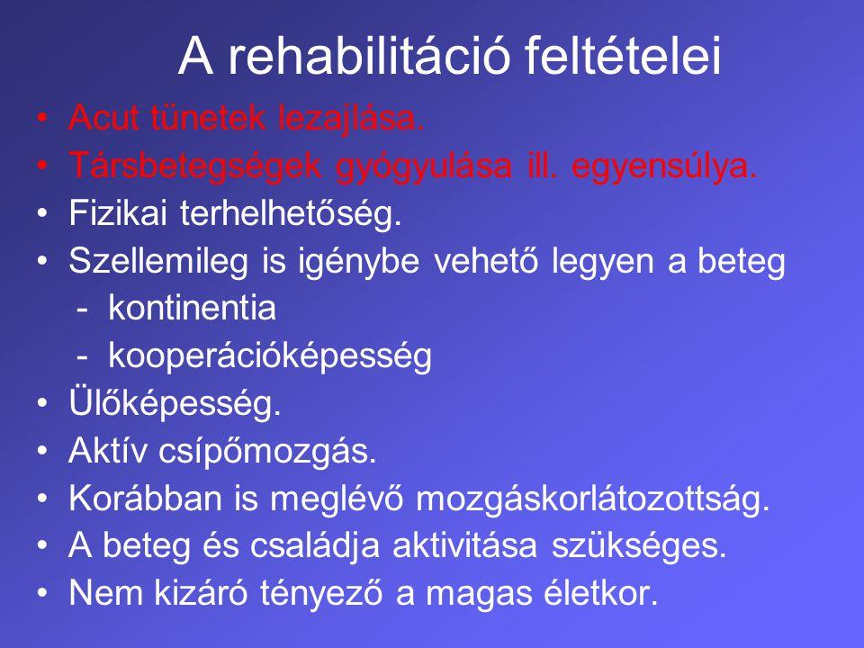 A rehabilitáció feltételei