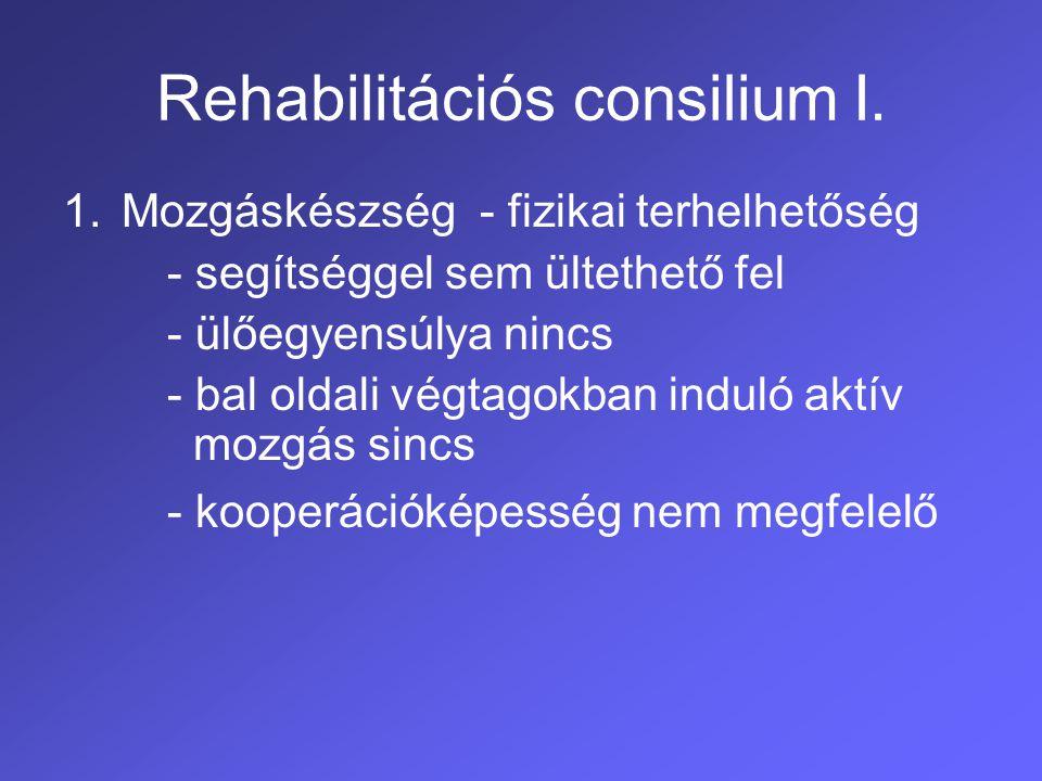 Rehabilitációs consilium I.