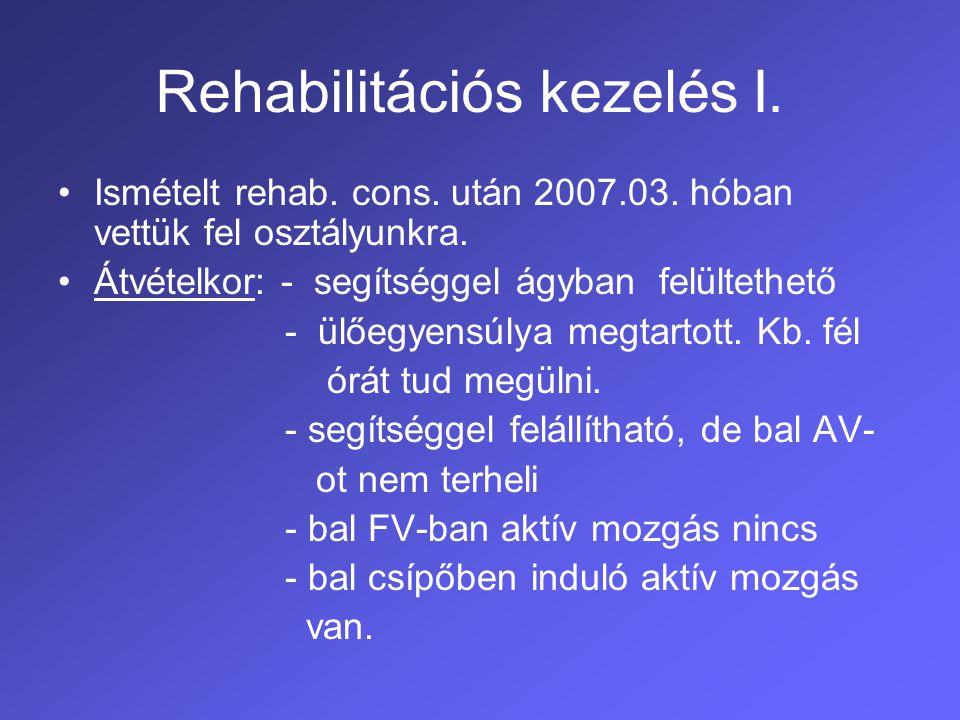 Rehabilitációs kezelés I.
