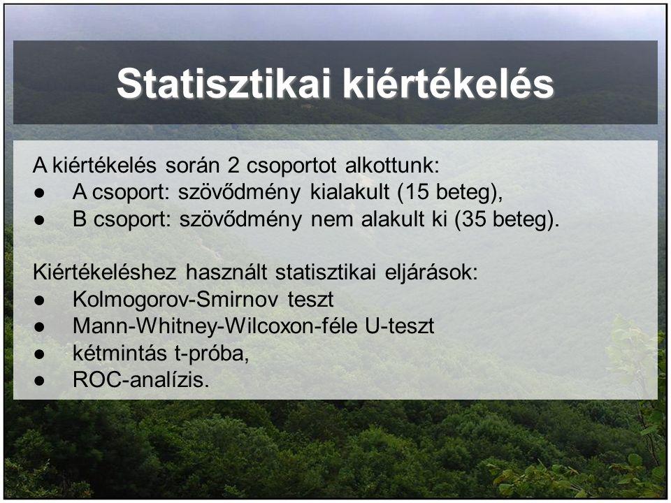 Statisztikai kiértékelés
