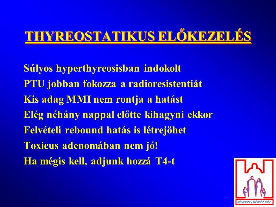 THYREOSTATIKUS ELŐKEZELÉS
