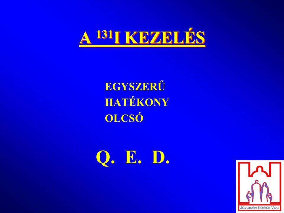 A 131I KEZELÉS EGYSZERŰ HATÉKONY OLCSÓ Q. E. D.