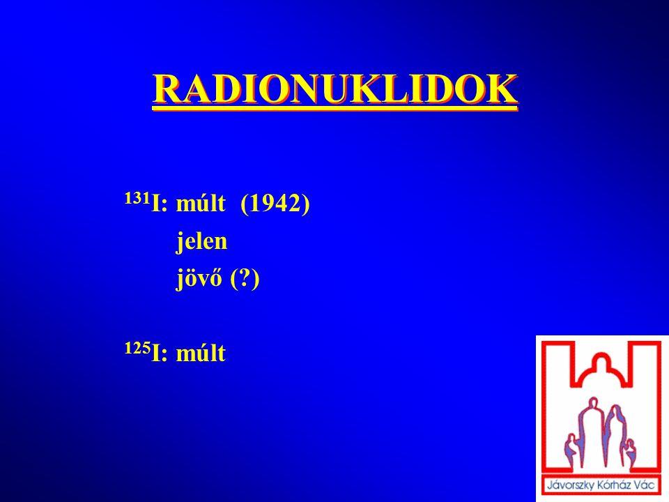 RADIONUKLIDOK 131I: múlt (1942) jelen jövő ( ) 125I: múlt