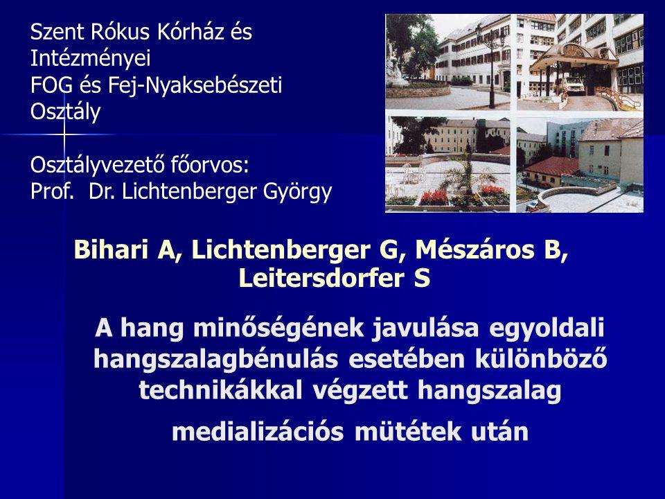 Bihari A, Lichtenberger G, Mészáros B, Leitersdorfer S