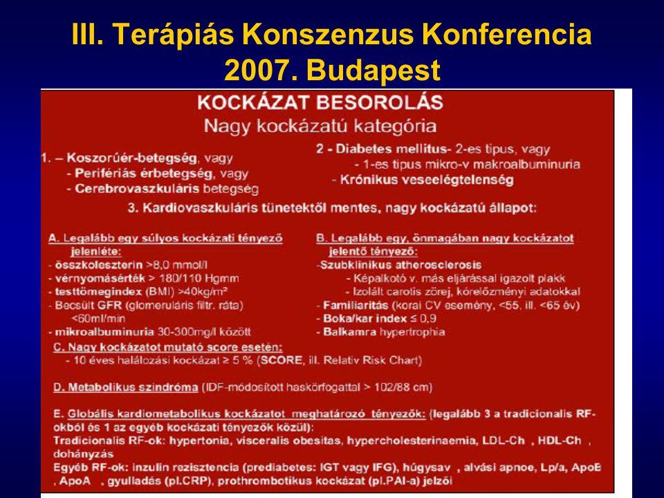 III. Terápiás Konszenzus Konferencia 2007. Budapest