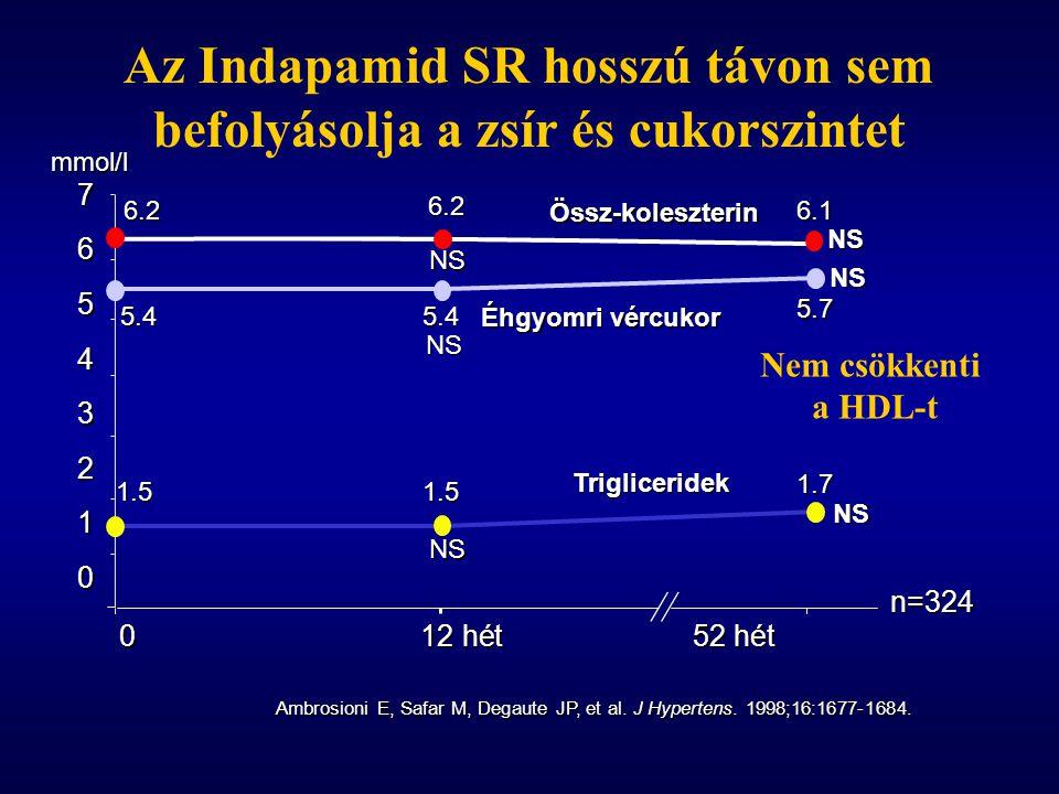 Az Indapamid SR hosszú távon sem befolyásolja a zsír és cukorszintet