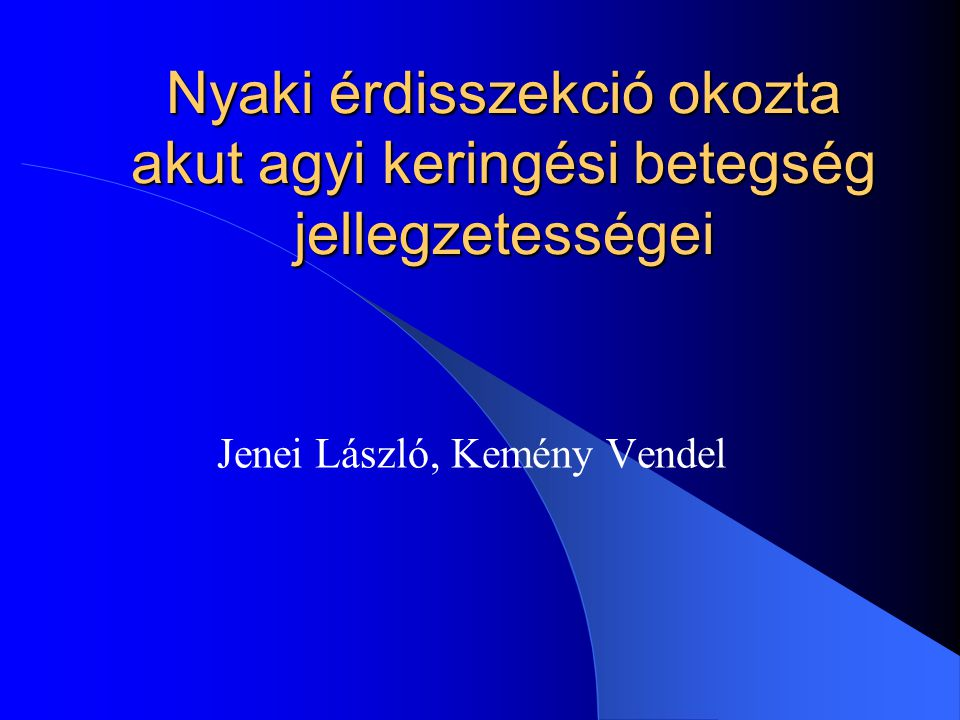 Jenei László, Kemény Vendel