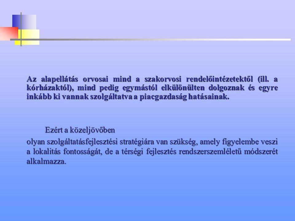 Az alapellátás orvosai mind a szakorvosi rendelőintézetektől (ill